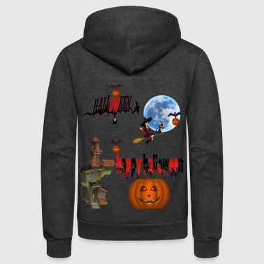 Occasion Happy Halloween and celebrate the occasion - Unisex Fleece Zip Hoodie