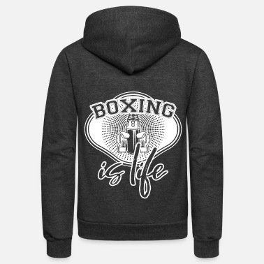 Fighter Fighter Fighter Fighter - Unisex Fleece Zip Hoodie