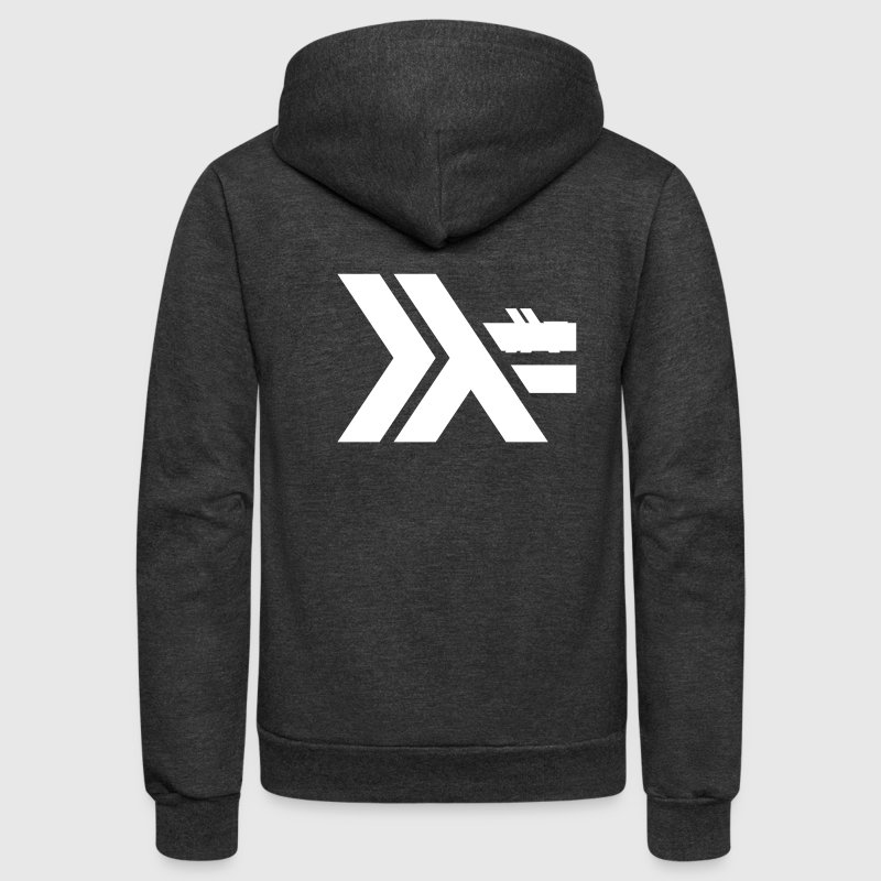 Haskell Lambda Logo Women's Scoop Neck Tee - Unisex Fleece Zip Hoodie