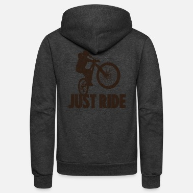 Bike Just Ride - Unisex Fleece Zip Hoodie