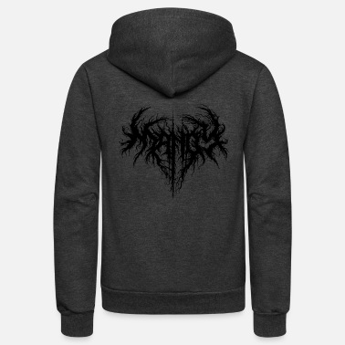 Heavy Metal Mandy love - Unisex Fleece Zip Hoodie