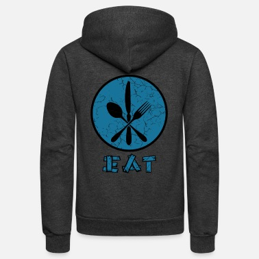 Eat with cutlery - Unisex Fleece Zip Hoodie