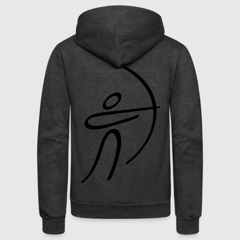 Olympic Archery - Unisex Fleece Zip Hoodie