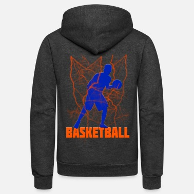 B Ball Bball Basketball - Unisex Fleece Zip Hoodie