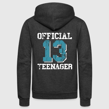 13th Birthday Gift Official Teenager for Boys - Unisex Fleece Zip Hoodie