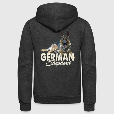 German-shepherd German Shepherd Shirt - German Shepherd Love Shirt - Unisex Fleece Zip Hoodie