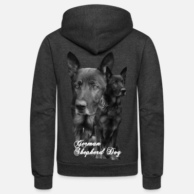Sports German Shepherd, dog,Dog sports,dog head, Dog face - Unisex Fleece Zip Hoodie