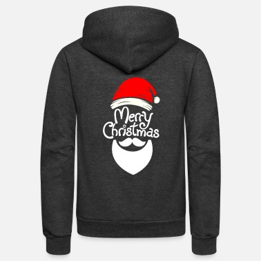 Merry Christmas Santa hat - Unisex Fleece Zip Hoodie