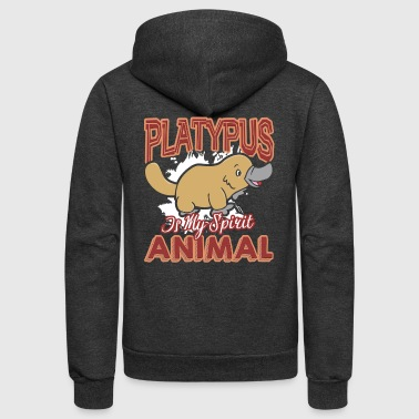 PLATYPUS IS MY SPIRIT ANIMAL SHIRT - Unisex Fleece Zip Hoodie