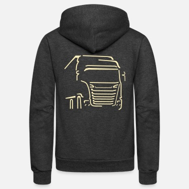 Vehicle Transport Vehicle - Unisex Fleece Zip Hoodie
