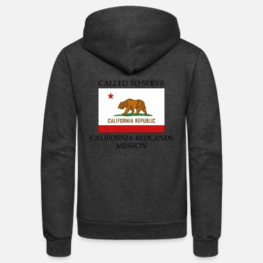Serve California Redlands Mission Called to Serve Flag - Unisex Fleece Zip Hoodie