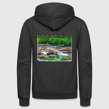 Waterfalls Dolly Sods WV - Unisex Fleece Zip Hoodie