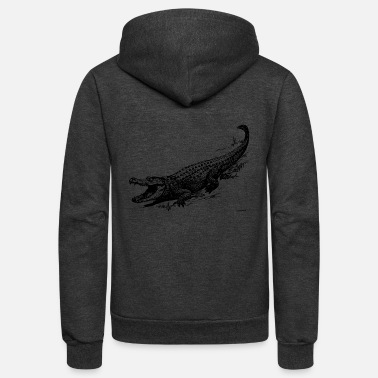 Alligator alligators - Unisex Fleece Zip Hoodie
