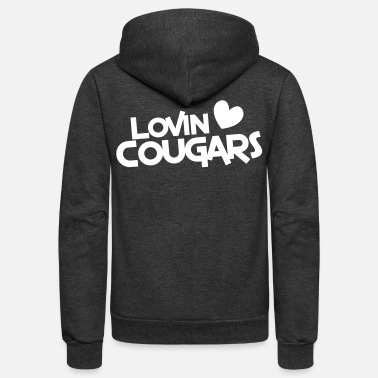 Stag lovin cougars with love heart - Unisex Fleece Zip Hoodie