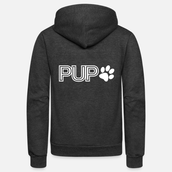 Play Hoodies & Sweatshirts - Pup Play Puppy Play - Unisex Fleece Zip Hoodie charcoal gray