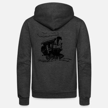 Bnsf train - Unisex Fleece Zip Hoodie