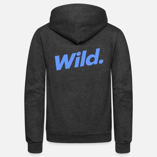 Wild Hoodies & Sweatshirts - Wild - Unisex Fleece Zip Hoodie charcoal gray