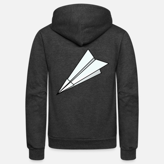 Paper Hoodies & Sweatshirts - Paper Planes - Unisex Fleece Zip Hoodie charcoal gray