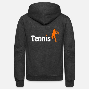 Sporty Tennis player cool sporty - Unisex Fleece Zip Hoodie