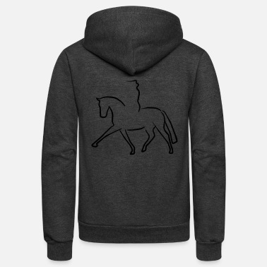 Dressage dressage - Unisex Fleece Zip Hoodie