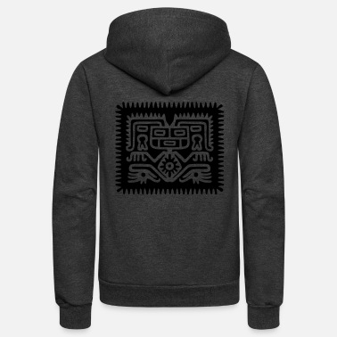 aztec hocker (inverse) - Unisex Fleece Zip Hoodie