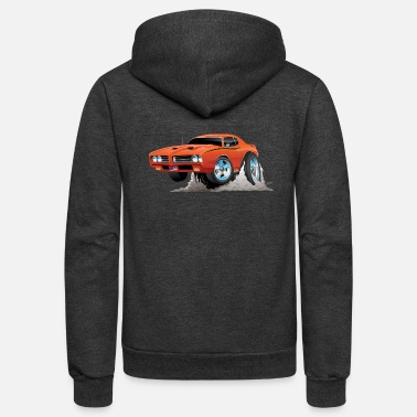 Muscle Classic American Muscle Car Cartoon - Unisex Fleece Zip Hoodie
