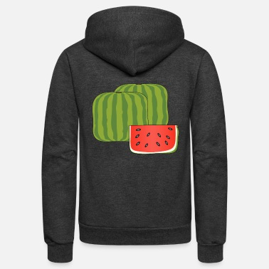 Moleskin Cubical watermelon - Unisex Fleece Zip Hoodie