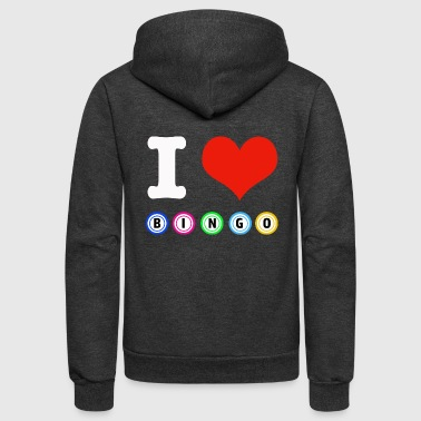 I love Bingo designs - Unisex Fleece Zip Hoodie