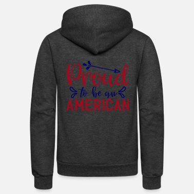 Bursdag prqud to be an amerlcan - Unisex Fleece Zip Hoodie