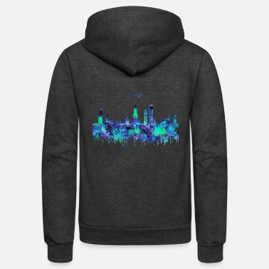 Chicago Chicago, Chicago Illinois - Unisex Fleece Zip Hoodie