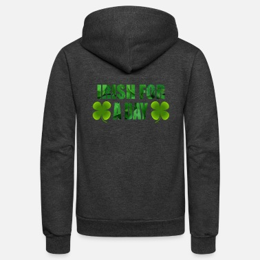 Cloverleaves Irish for a day green - cloverleaves - Unisex Fleece Zip Hoodie