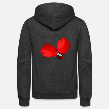 Match Boxing Gloves - Unisex Fleece Zip Hoodie