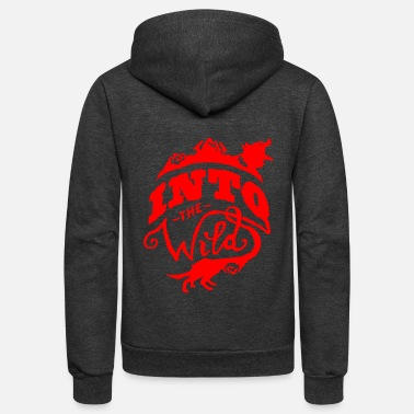 Wild Into The Wild - Unisex Fleece Zip Hoodie