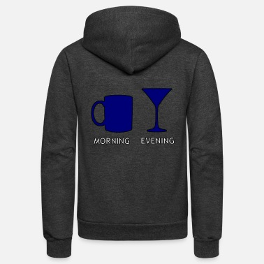 Evening morning & evening - Unisex Fleece Zip Hoodie