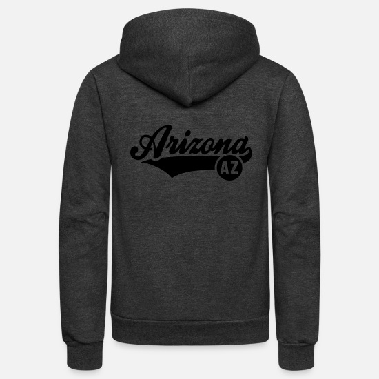 Arizona Hoodies & Sweatshirts - Arizona AZ - Unisex Fleece Zip Hoodie charcoal gray