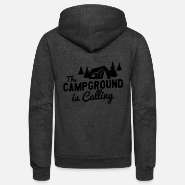 Campground The Campground Is Calling - Unisex Fleece Zip Hoodie