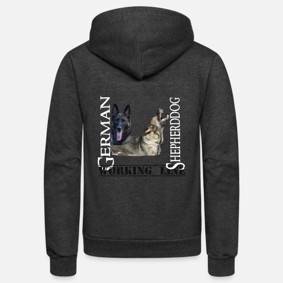 Dog Hoodies & Sweatshirts - Shepherddog,German Shepherd, Germam shepherd dog, - Unisex Fleece Zip Hoodie charcoal gray
