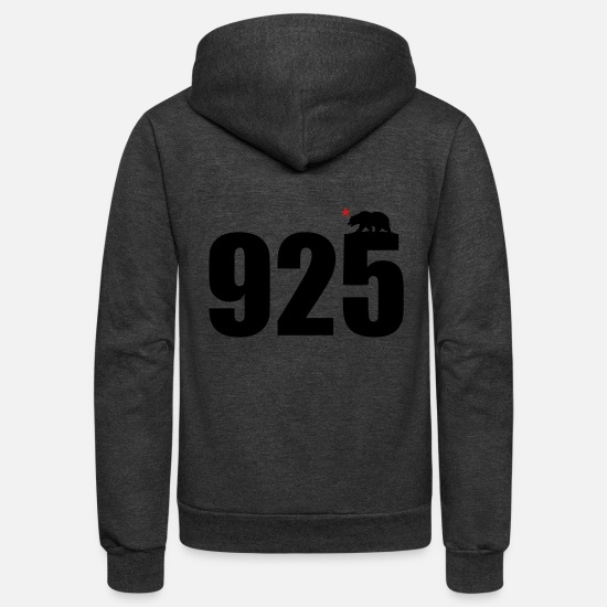Area Hoodies & Sweatshirts - area_code_925 - Unisex Fleece Zip Hoodie charcoal gray
