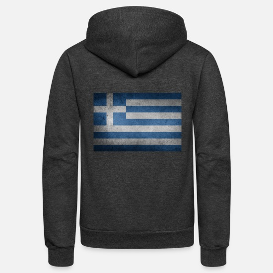 Greece Hoodies & Sweatshirts - greece - Unisex Fleece Zip Hoodie charcoal gray