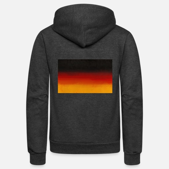 German Hoodies & Sweatshirts - Flag of Germany - Unisex Fleece Zip Hoodie charcoal gray
