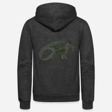 Fire Breathing night wing - Unisex Fleece Zip Hoodie