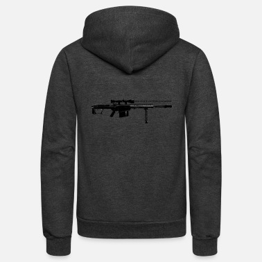 Rifle Sniper Rifle - Unisex Fleece Zip Hoodie