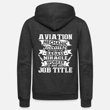 Aviation Aviation Mechanic Shirt - Unisex Fleece Zip Hoodie