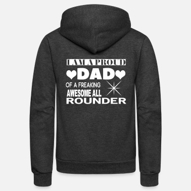 Rounders A Proud Dad Of An Awesome All Rounder T Shirt - Unisex Fleece Zip Hoodie