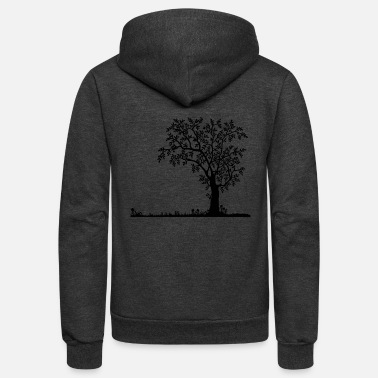 Trees tree - Unisex Fleece Zip Hoodie