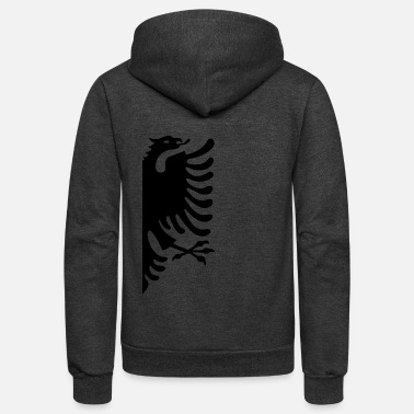 Albania Albania Couple Shirt Albanian Flag Shirt Partner G - Unisex Fleece Zip Hoodie