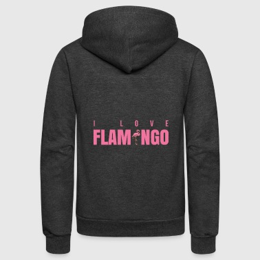 Flamenco I Love Flamingo - Unisex Fleece Zip Hoodie