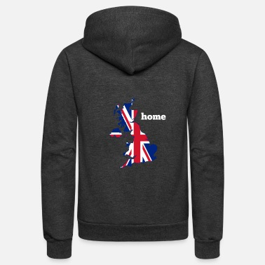 Nottingham Flag Uk Flag Home - Unisex Fleece Zip Hoodie