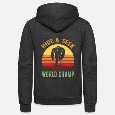 Champ Bigfoot Yeti Design - Hide And Seek World Champ - Unisex Fleece Zip Hoodie