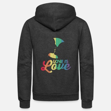 Couple Marriage Spiritual Love Is Love Rainbow Kissing Marriage Equality LGB - Unisex Fleece Zip Hoodie